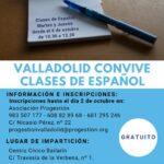 Convocatoria de la segunda edición del taller de Español a través del proyecto ValladolidCONVIVE