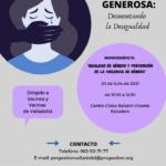 VALLADOLID GENEROSA: UN MONOGRÁFICO SOBRE IGUALDAD DE GÉNERO Y PREVENCIÓN DE LA VIOLENCIA DE GÉNERO