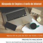 TALLER DE BÚSQUEDA DE EMPLEO A TRAVÉS DE INTERNET